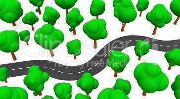 Die S-Kurve mit Bäumen 02