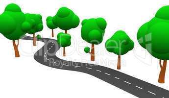 Die S-Kurve mit Bäumen 03