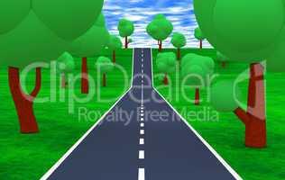 Die Straße bis zum Horizont 02