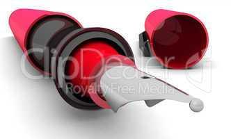Füllfederhalter im Detail Rot Schwarz