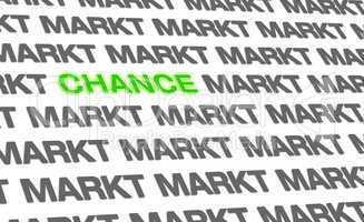 Business Text-Konzept - Die Chance auf dem Markt