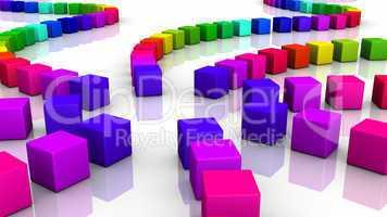 Würfel in Folge - farbenfroh 02