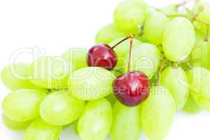 grapes cherry isolated on white