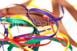 Satin Ribbons isolated on white