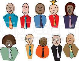 Emotional Business People