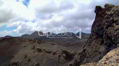 timelapse clouds on vulcan crater edge