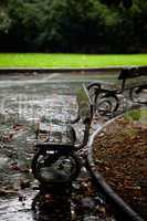 wet benches in the park