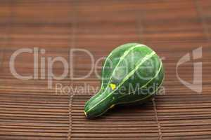 China pumpkin on a bamboo mat