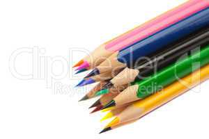 colored pencils isolated on white