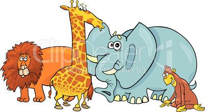 cartoon african animals