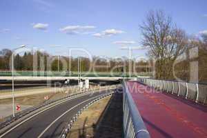 Motorway and FootBridge