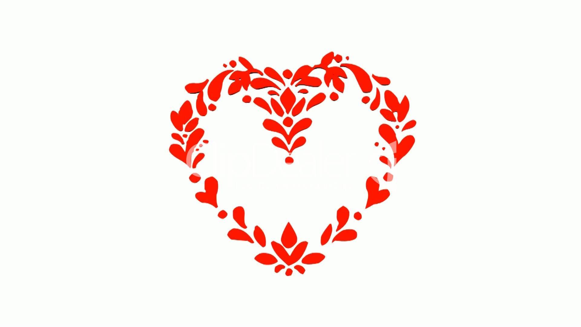 Rotation Of Flower Heart Love Red Symbol Heart Valentine