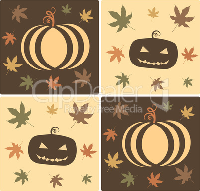 Vector Textured Halloween Design Element