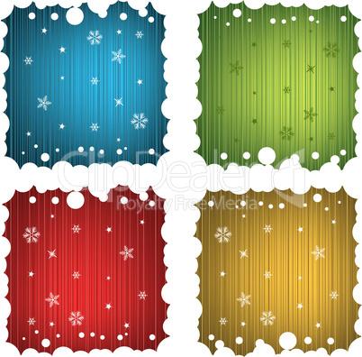 Christmas Festive Vector Frames