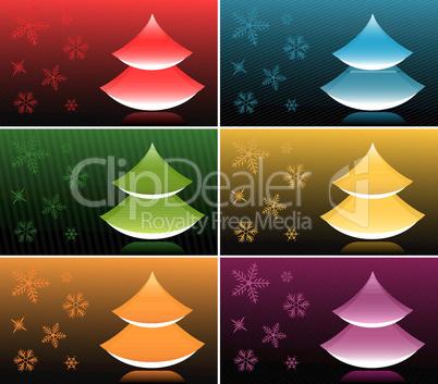 Christmas Tree Festive Backgrounds