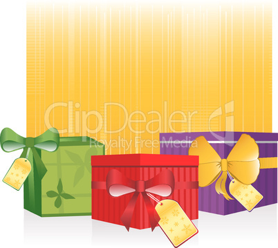 Vector Holiday Gifts Sale Design