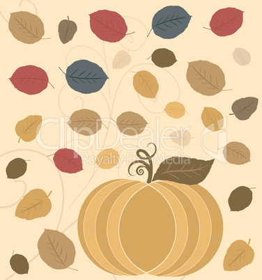 Vector Thanksgiving Holiday Background