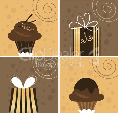 Vector Chocolate Gift
