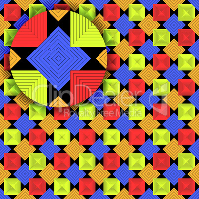 squares pattern with detail