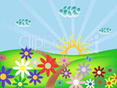 spring landscape.eps