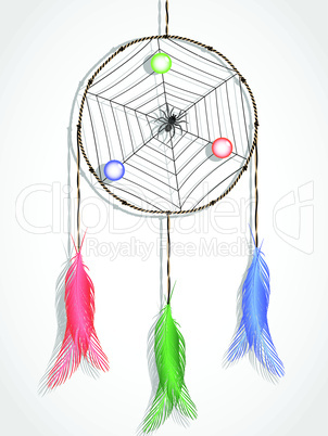 dream catcher against white