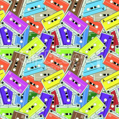 seamless audio tapes pattern