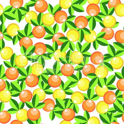 oranges and lemons pattern
