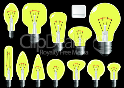 light bulbs shapes.eps