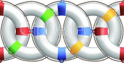 life buoy horizontal pattern