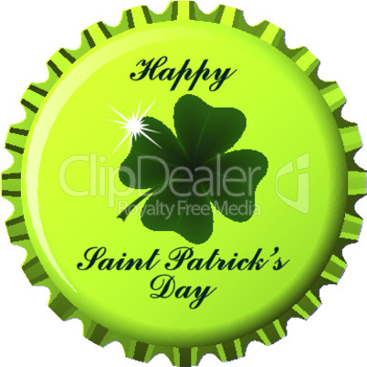 happy saint patrick bottle cap.eps