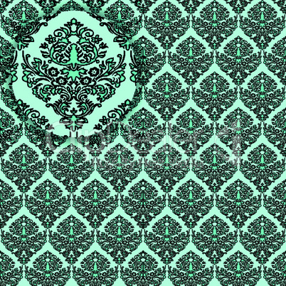 damask detailed seamless texture