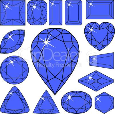 blue diamonds collection.eps