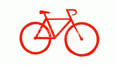 Rotation of 3D bicycle.Transportation,traffic,sports,fitness,Tour-de-France,wheel,sport,pedal,