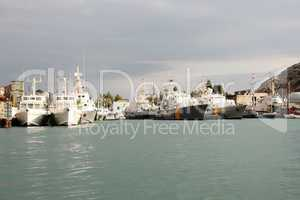 Russian coast guard ships in the port of Sevastopol