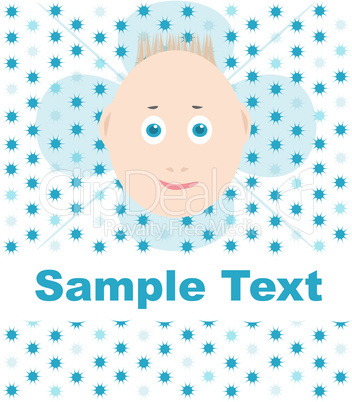 vector happy smile child greeting card wallaper