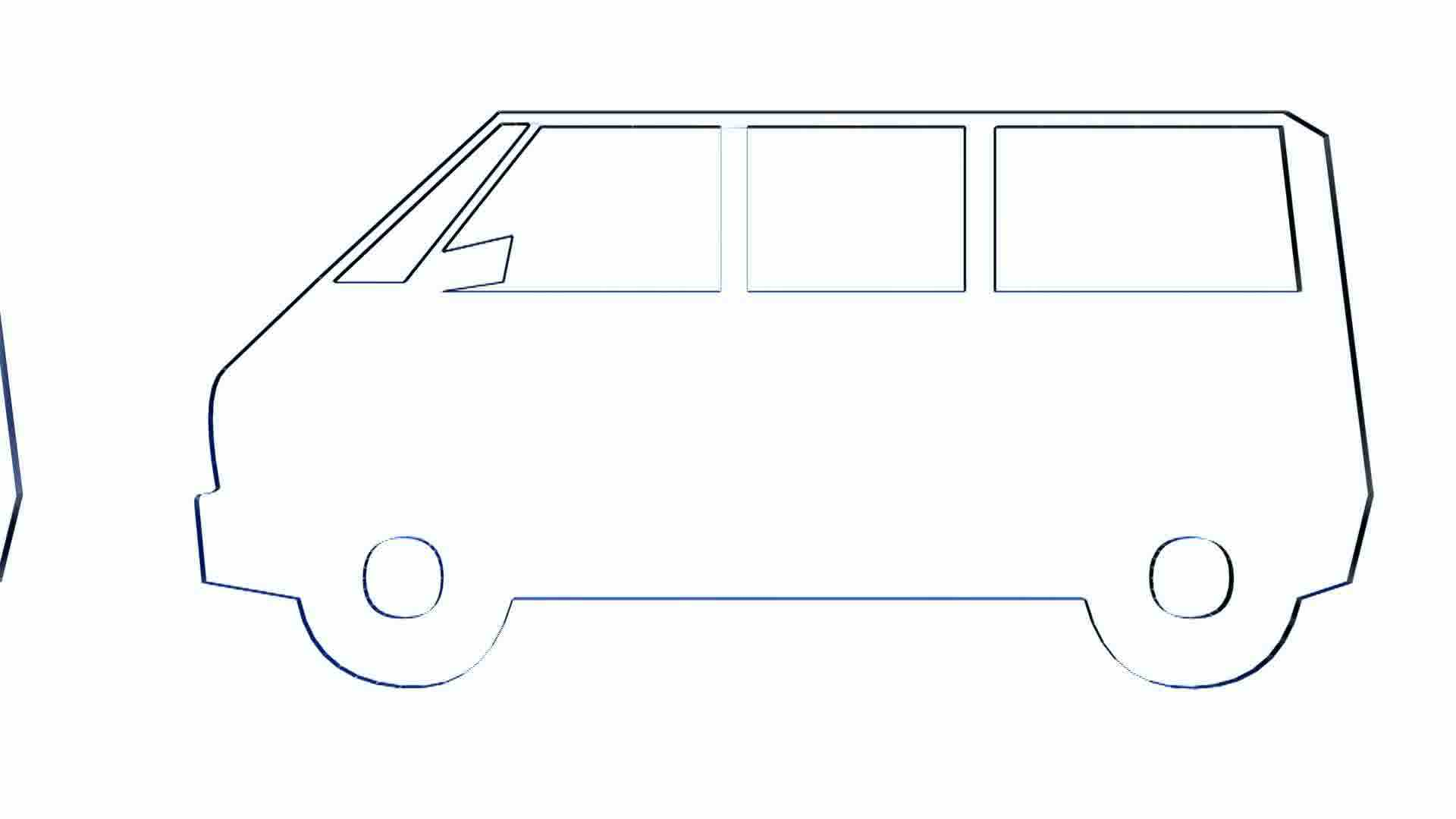 rotation of 3d van bus car transportation bus vehicle Deer in Headlights Clip Art Deer in Headlights Clip Art