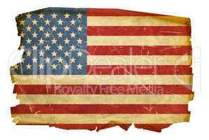 United States Flag old, isolated on white background