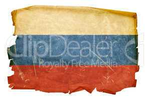 Russia Flag old, isolated on white background
