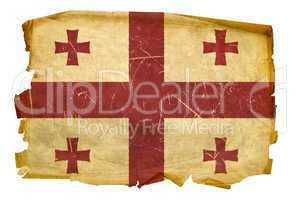 Georgia Flag old, isolated on white background.