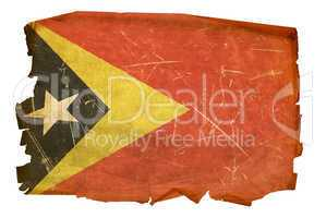 East Timor Flag old, isolated on white background.