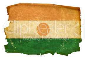 Nigerian Flag old, isolated on white background
