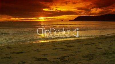 Sunrise on a tropical sandy Beach
