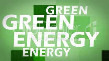 Creative image of green energy concept