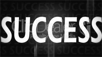 Creative image of black success concept