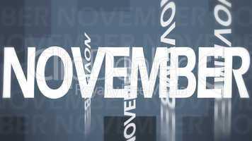 Creative image of November concept