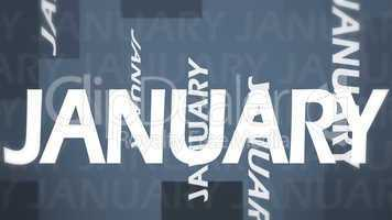 Creative image of January concept