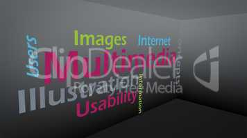 Creative image of new technology concept