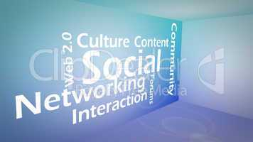 Creative image of social networking concept