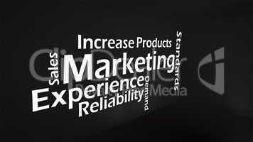 Creative image of marketing concept
