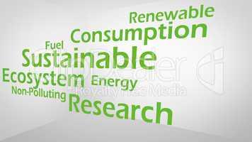 Creative image of green economy concept